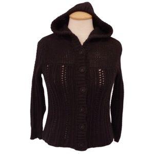 American Eagle Black Knit Hoodie NWOT- Sz. Sm